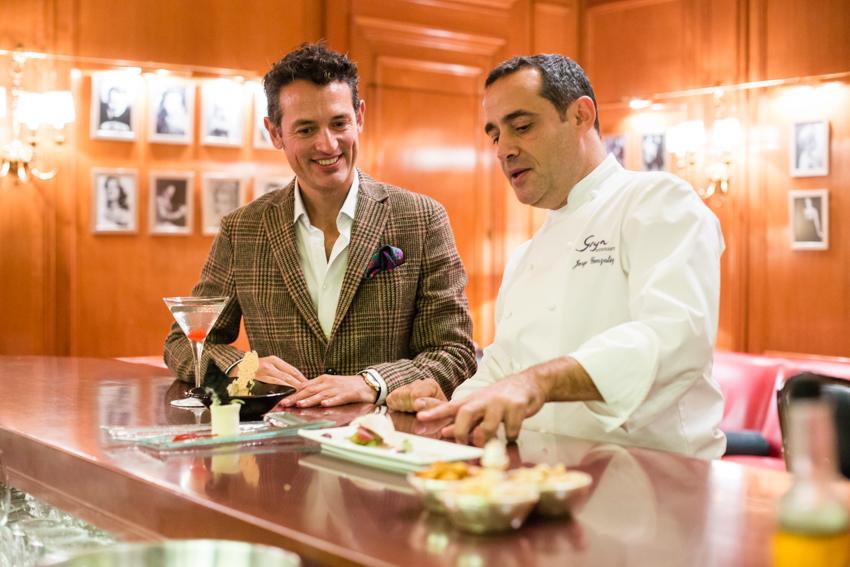 Disfrutando con las creaciones de Jorge González, chef del RITZ.