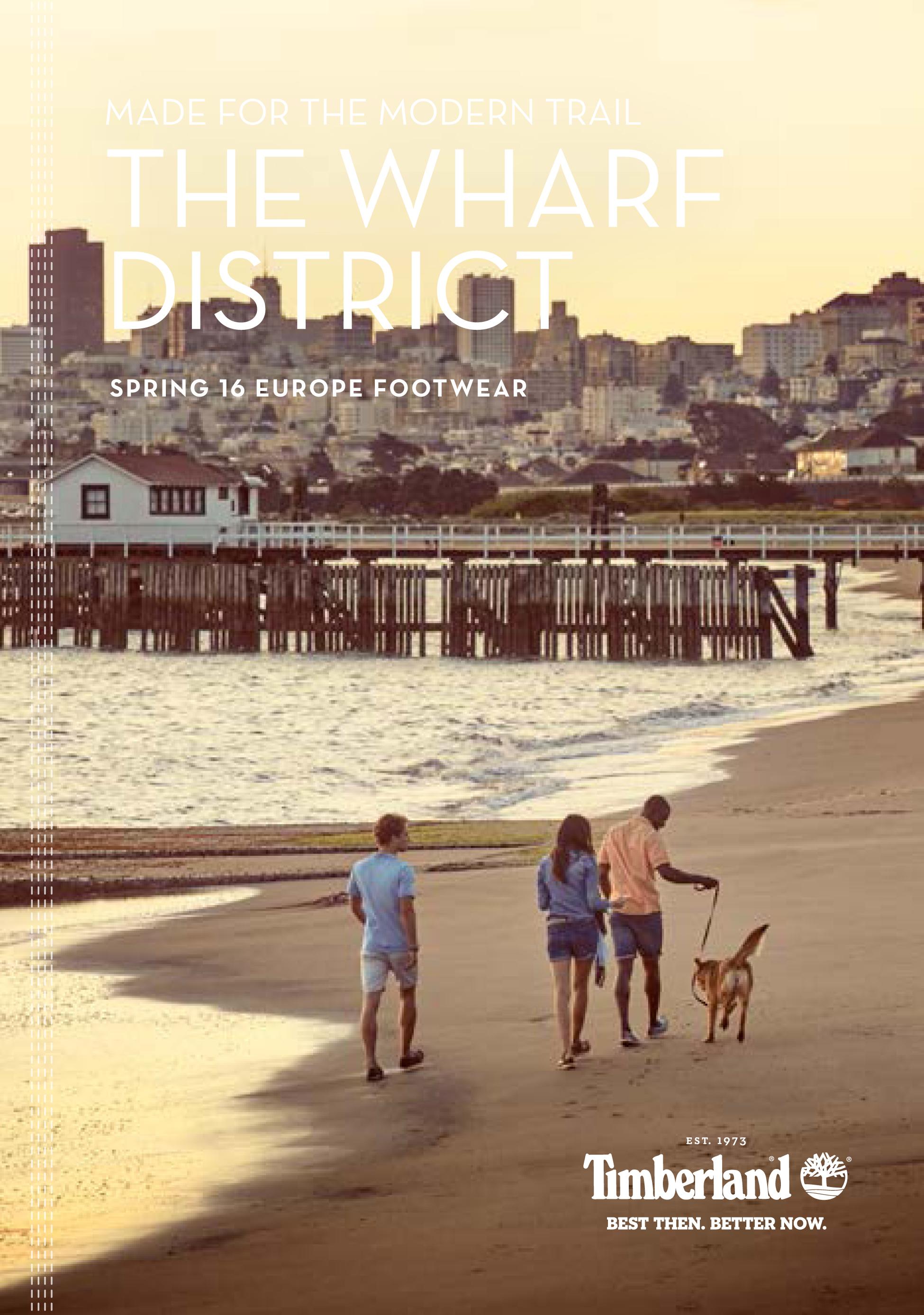 Imagen de portada del lookbook de calzado TIMBERLAND pv 2016.