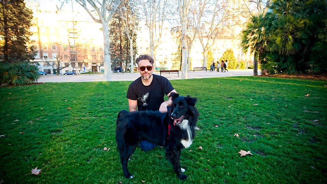 Luis y Jorge en el Parque del Oeste.