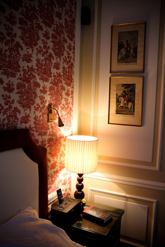 En el Sacher, como en casa. También tengo esas mismas láminas antiguas.