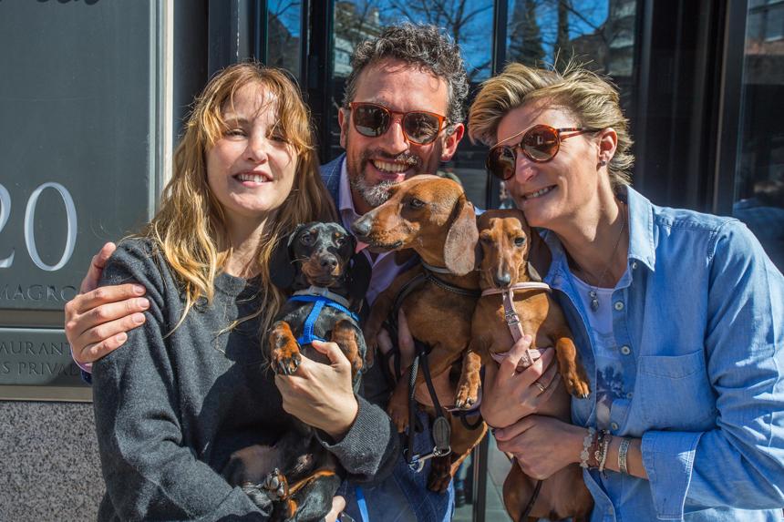 Con María Zurita Borbón, Clea Fitz-James Stuart y nuestros perros.