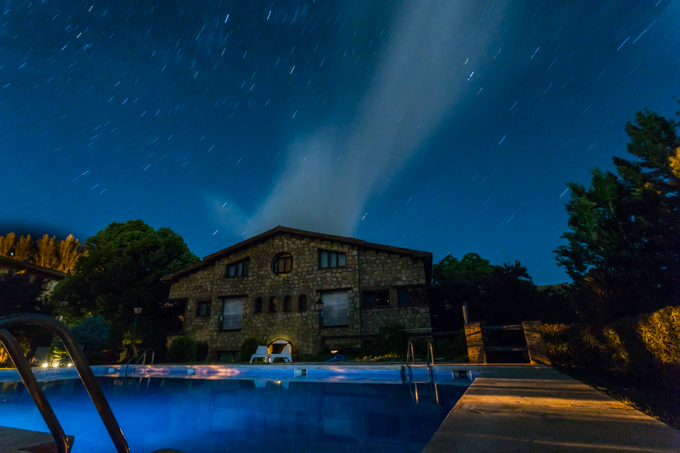 Mi plan para esta noche, nadar bajo las estrellas.