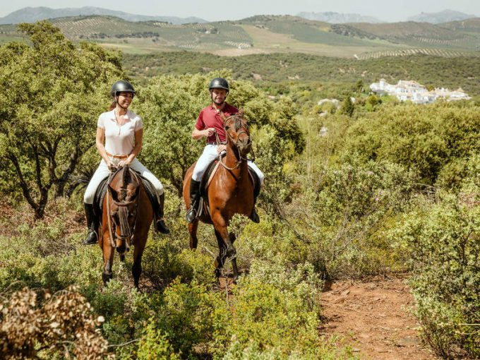 Planes para hacer a primera hora o al atardecer, rutas a caballo o en bicicleta por la dehesa.