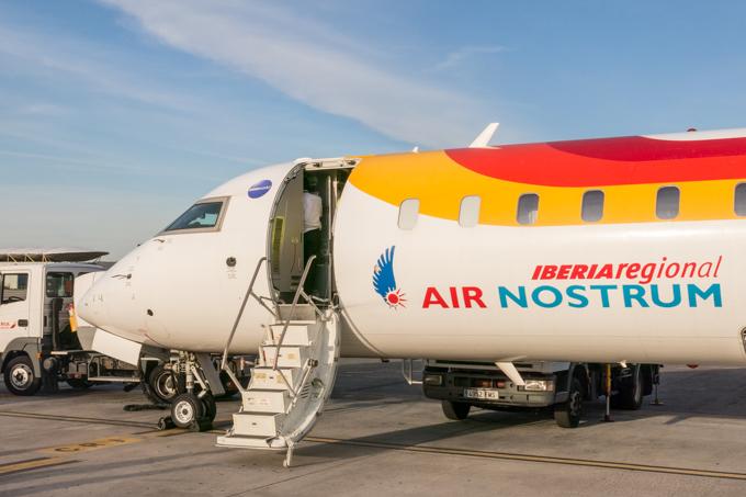 Emoción a pie de pista con IBERIA REGIONAL AIR NOSTRUM.