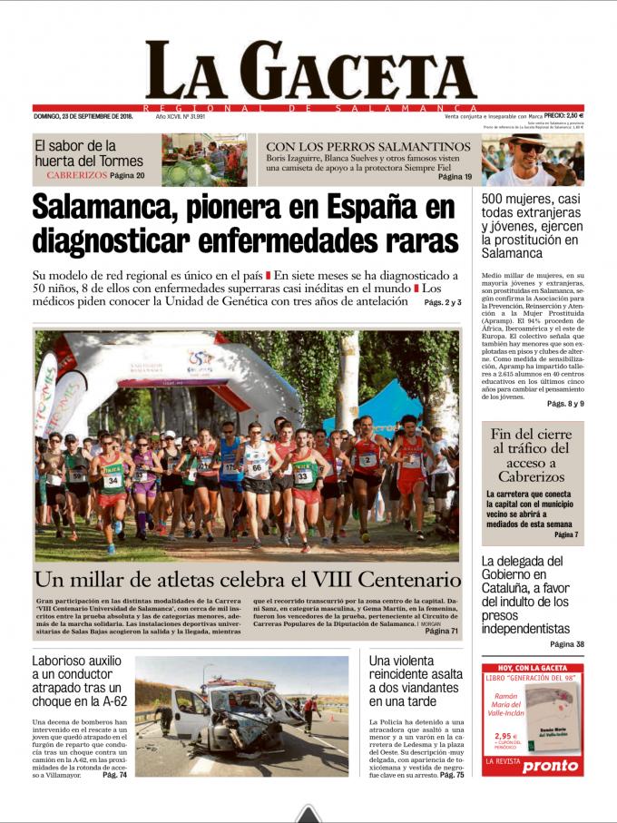 La Gaceta de Salamanca domingo 23 de agosto 2018
